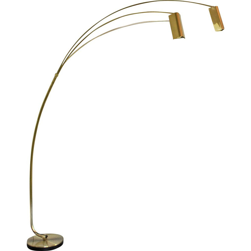 Vintage Italian brass floor lamp 1970