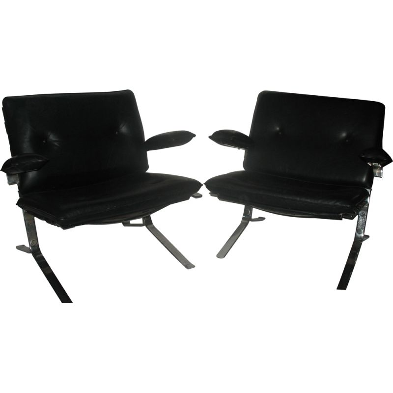 Pair of vintage Jocker armchairs by Olivier Mourgue 1960