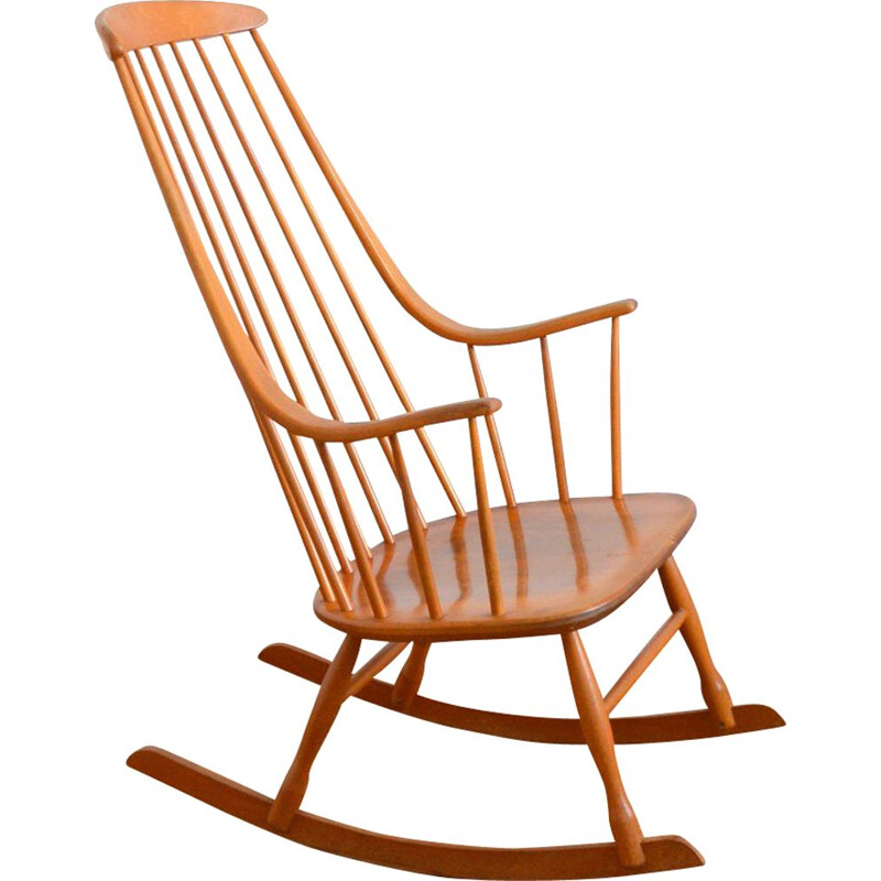 "Vintage rocking chair ""Grandessa"" by Lena Larsson, Scandinavian 1960"