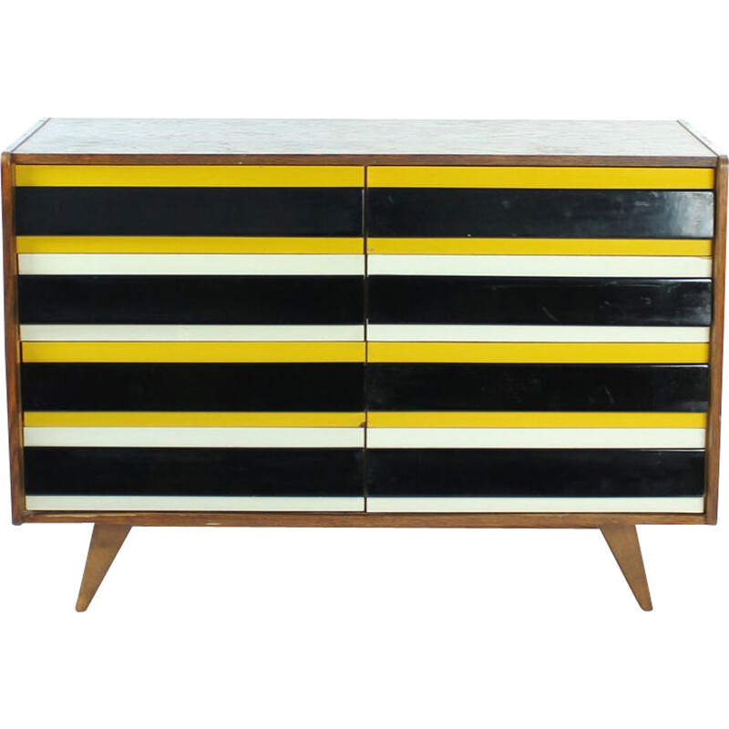 Vintage chest of drawers U 453 by Jiri Jiroutek, Interior Praha, Czechoslovakia 1960