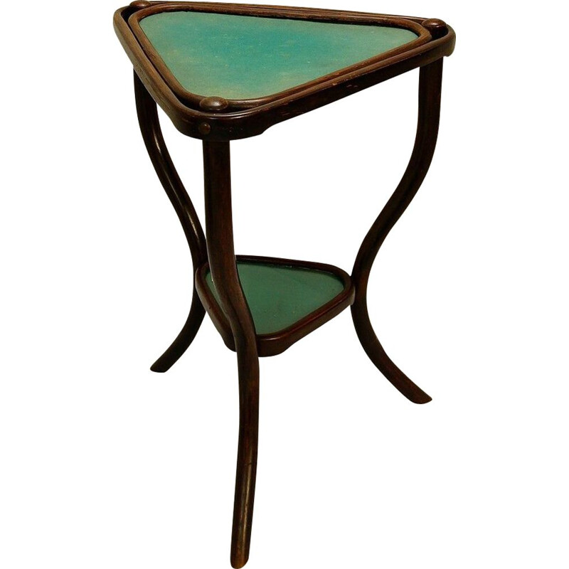 Vintage Triangular Playing Table By Thonet