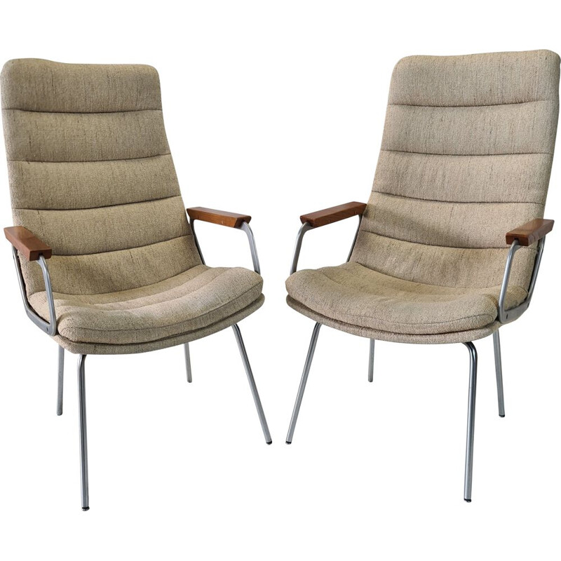 Pair of vintage armchairs with high backrests by Geoffrey Harcourt for Artifort, 1960s