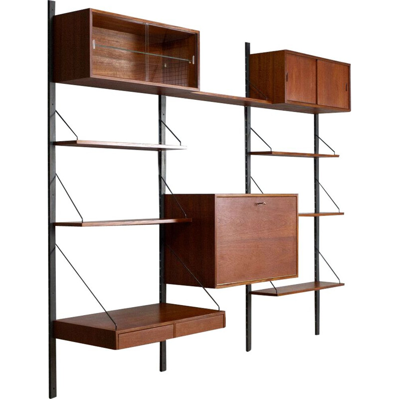 Vintage Royal shelving unit by Poul Cadovius  in teak 1960s