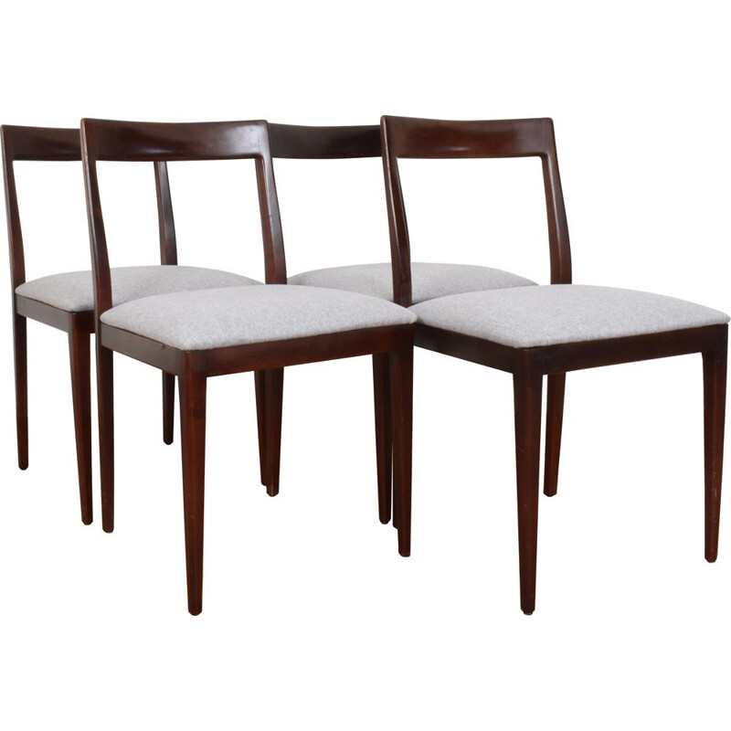 Set of 4 Mid-Century Dining Chairs from Lübke, 1960s