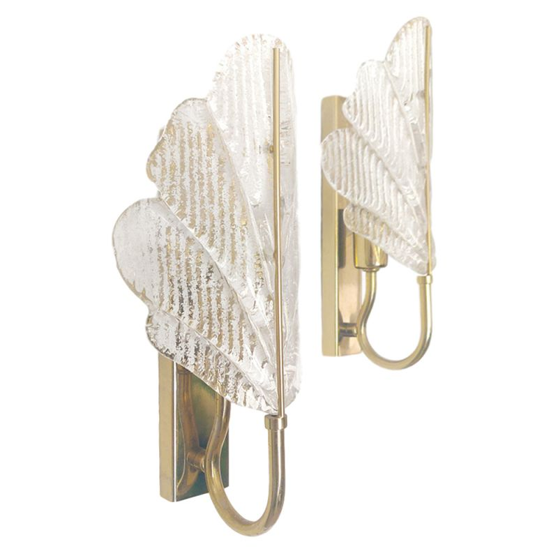 Pair of vintage Murano Glass Sconces, 1960s