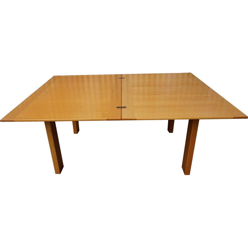 Vintage Ibisco Extendable Dining Table in Birch Wood Italian 1969