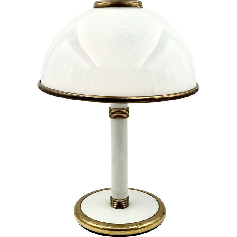 Vintage table lamp F.Fabbian, Murano mushroom 1980