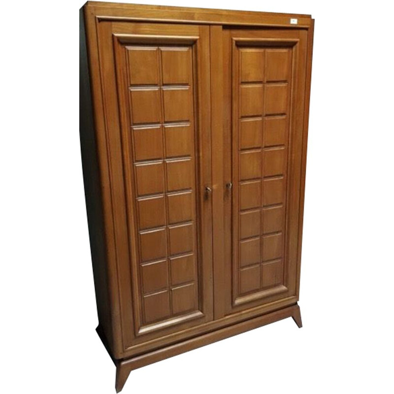 Vmintage armoire solid cherrywood  Marcel Gascoin 1950