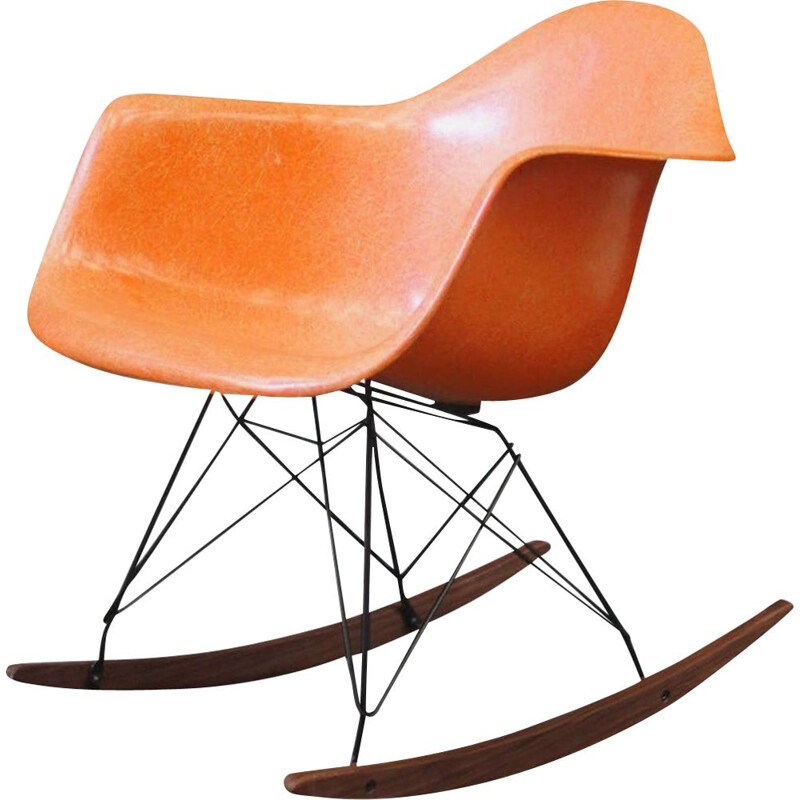 Vintage Orange Rocking Chair by Charles & Ray Eames - Herman Miller Charles & Ray Eames 1960