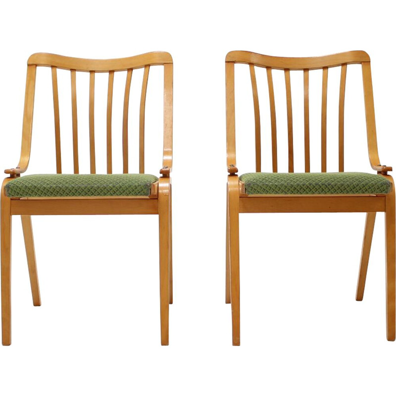 Pair of vintage dining chairs by Antonín Šuman, 1960s