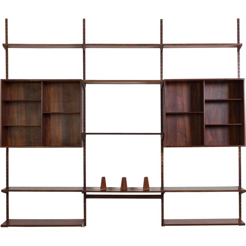 Vintage Rosewood Wall Unit by Kai Kristiansen for FM Møbler, Denmark, 1960s