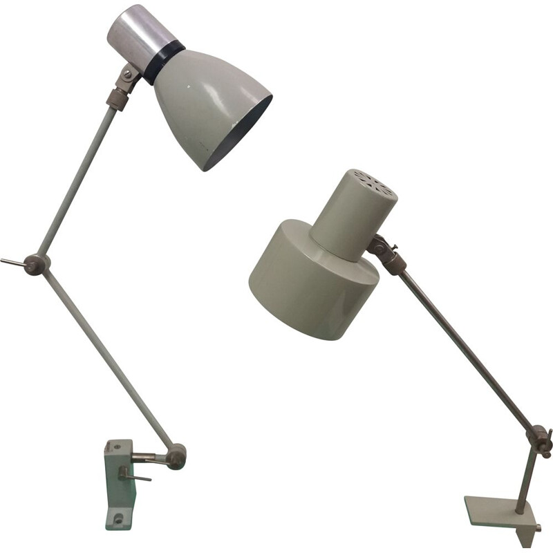 Vintage Industrial adjustable table lamp Czechoslovakia 1960s