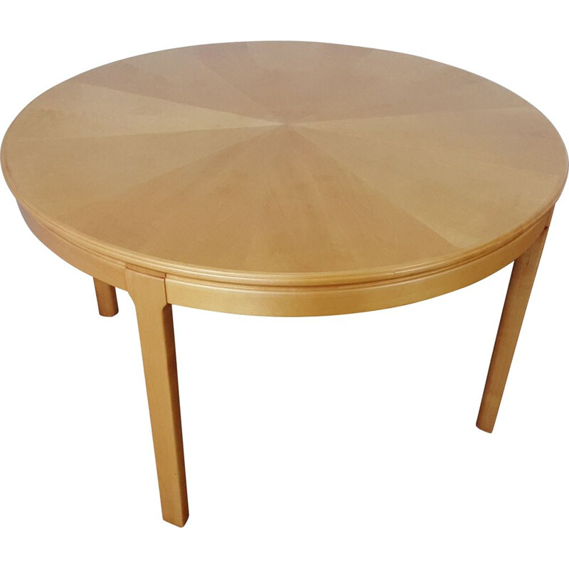 Mid Century satin ash occasional table by Carl Malmsten 1950