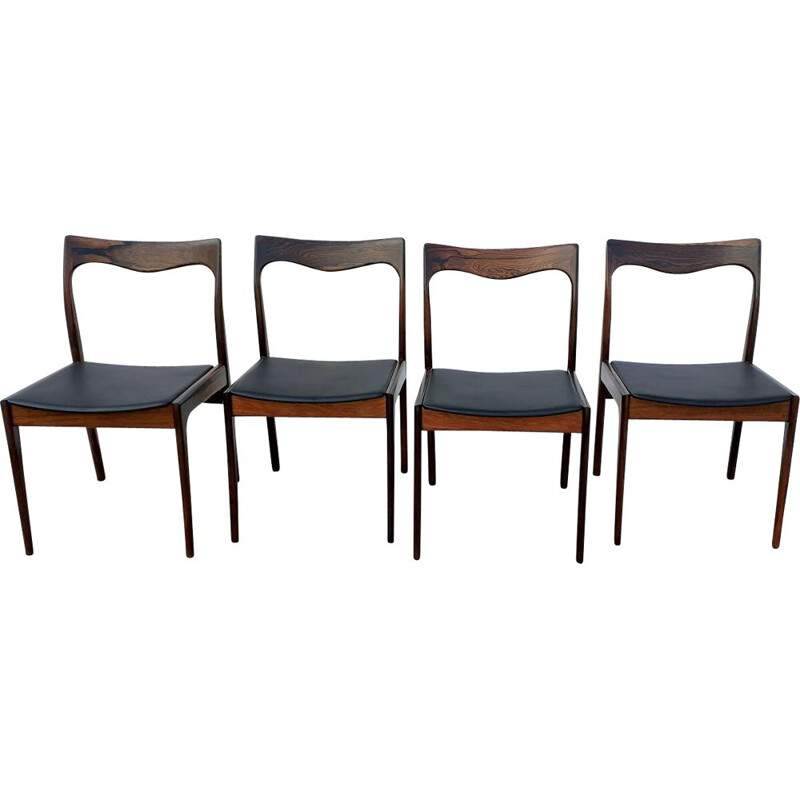 Set Of 4 vintage Rosewood Niels Moller Dining Chairs