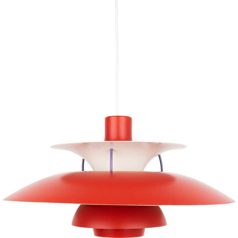 Mid-century pendant lamp PH 5 by Poul Henningsen, Louis Poulsen Danish 1958