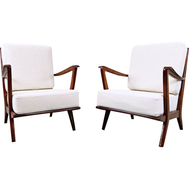 Pair of Vintage Armchairs Model 516 by Gio Ponti for Cassina, 1950