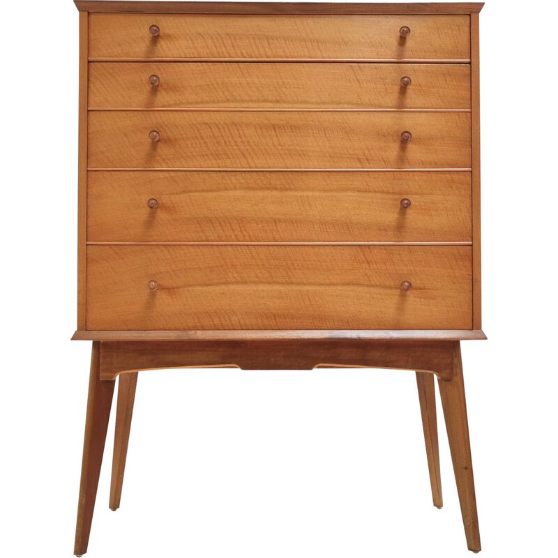 Vintage Walnut Chest of Drawers Alfred Cox for Maples British