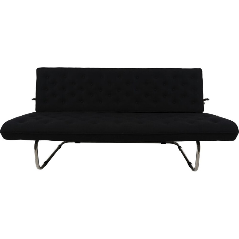 Vintage Model F40 black sofa by Marcel Breuer 1931