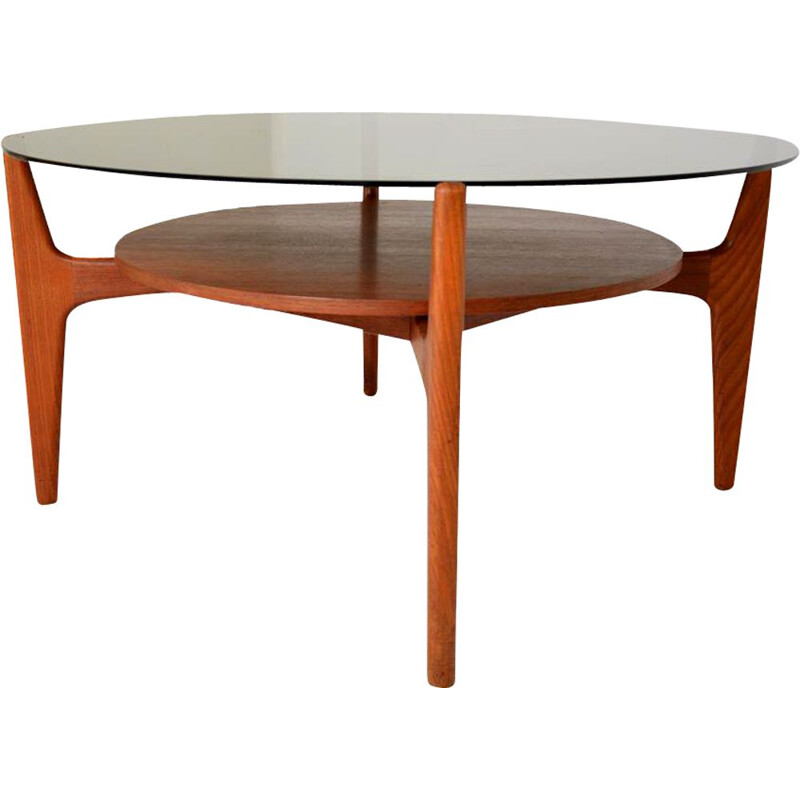 Vintage coffee table Circular by Wilhelm Renz 1970