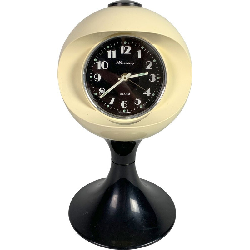 Vintage Alarm Clock by Blessing Space Age West Germany, 1970s