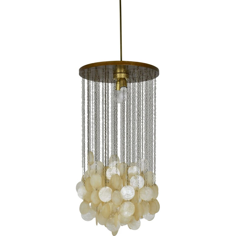 Vintage Mother-of-Pearl Chandeliers Italian 1960s