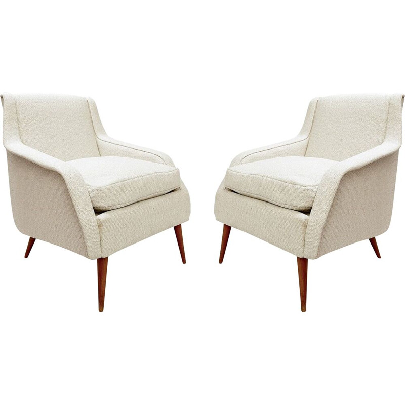 Pair of vintage 802 Armchairs by Carlo De Carli for Cassina, 1950