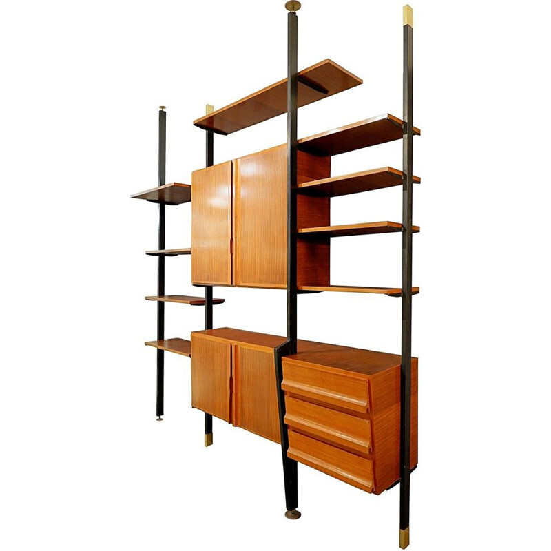 Vintage floor to ceiling Italian wall unit
