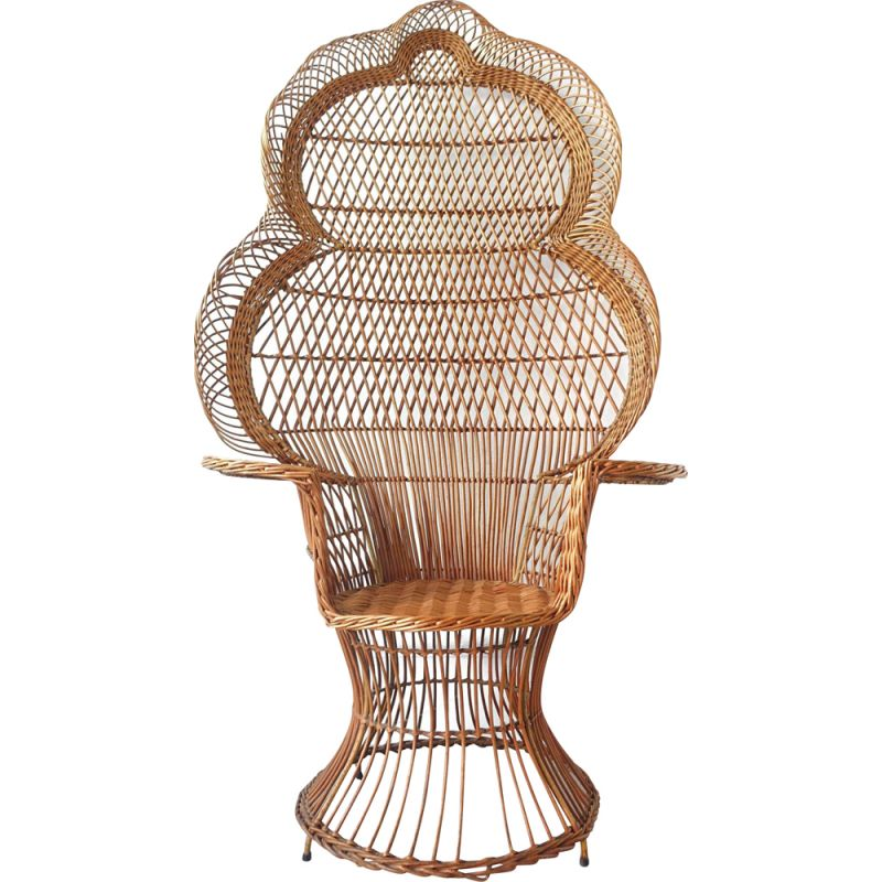 """Vintage Iconic """"Emanuelle"""" Peacock Chair, 1970s"""