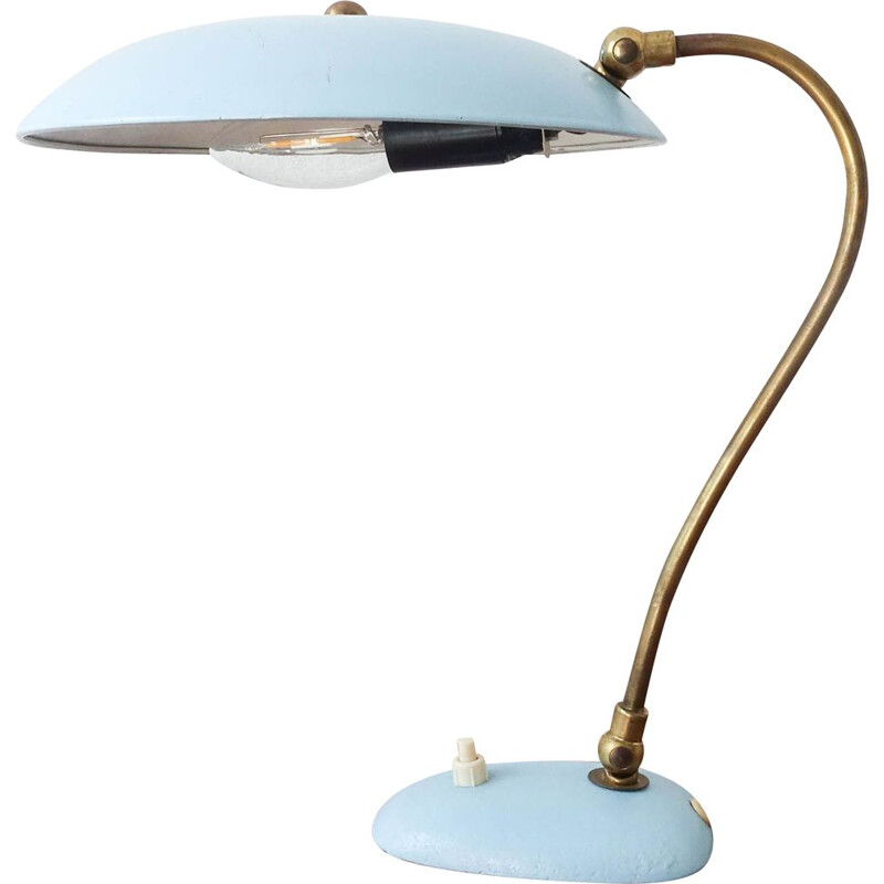 Vintage Table Lamp Stilnovo Brass 1950s