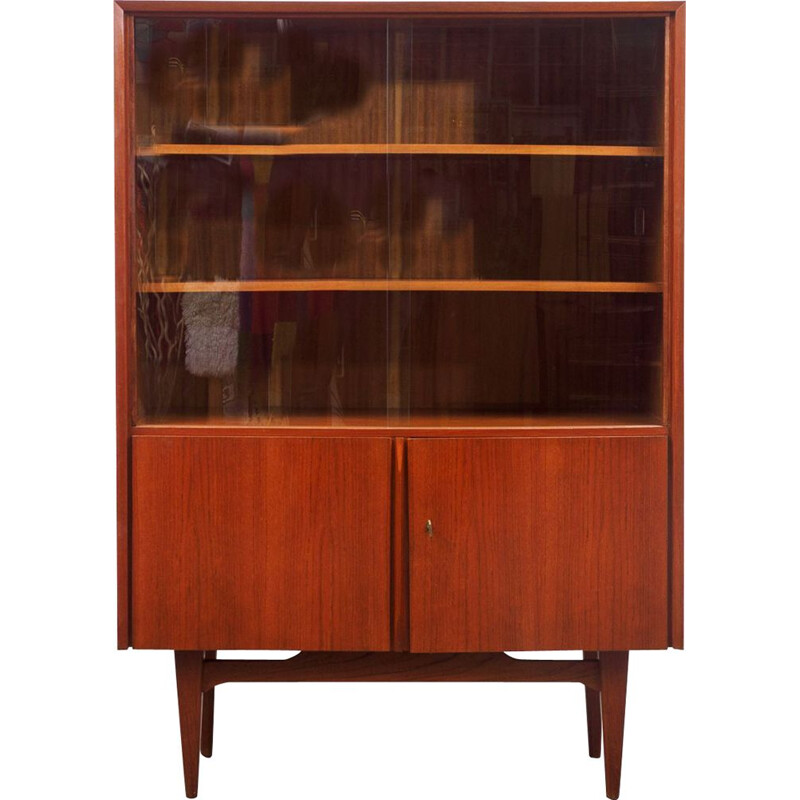 Vintage display cabinet in teak, Scandinavian 1960s