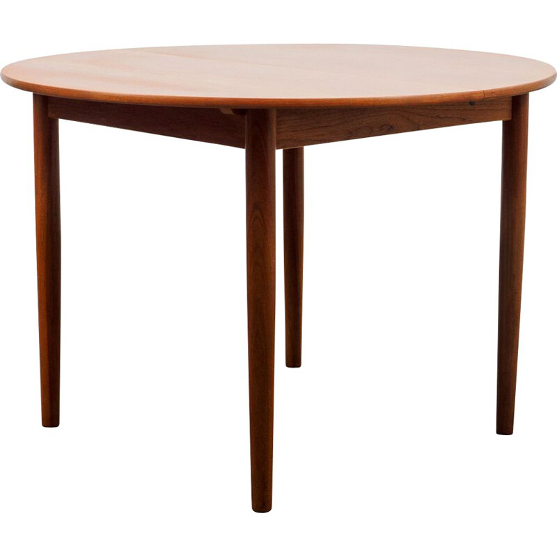 Vintage teak dining table extendable Scandinavian 1960s