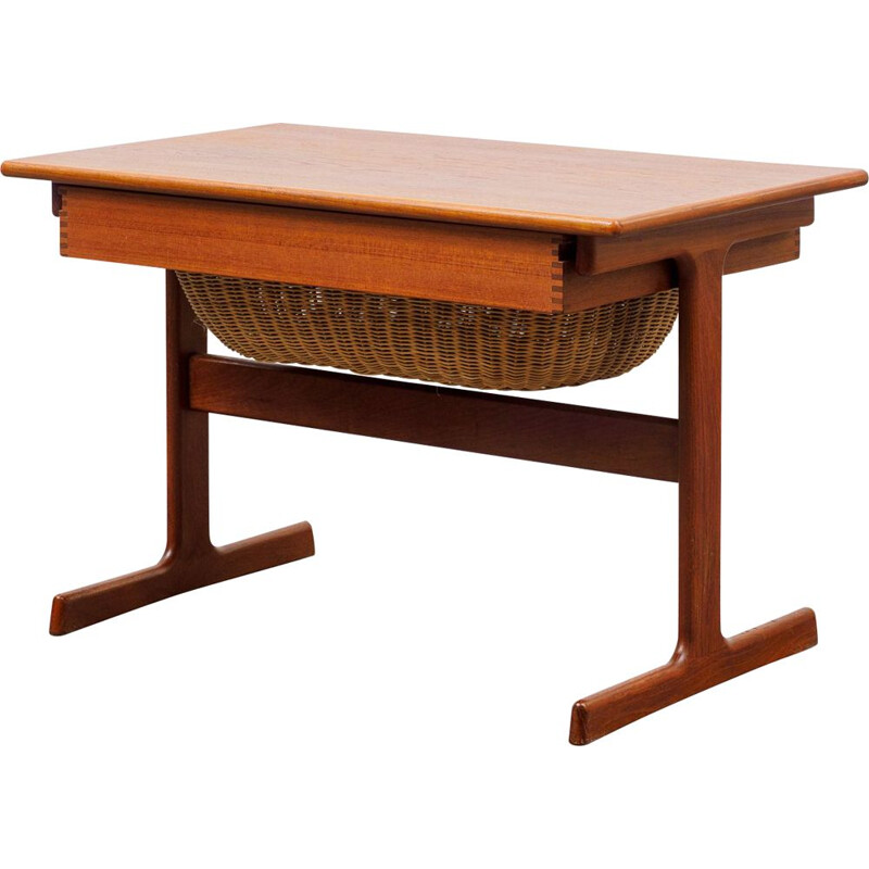 Vintage teak side table  sewing table by Kai Kristiansen Danish 1960s