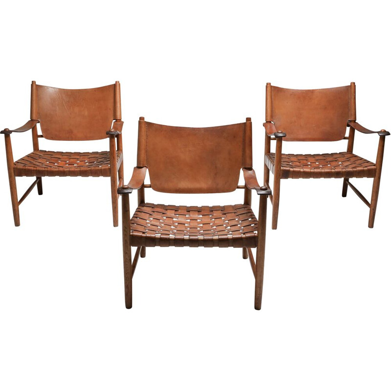 Safari Vintage Armchairs Arne Noréll Norell Mobel 1960