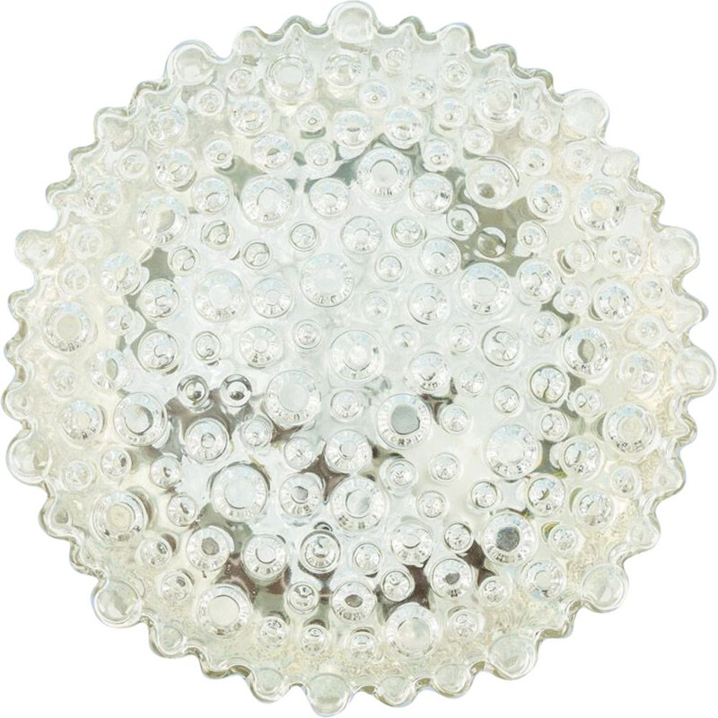 Vintage bubble glass wall and ceiling lamp 1960s