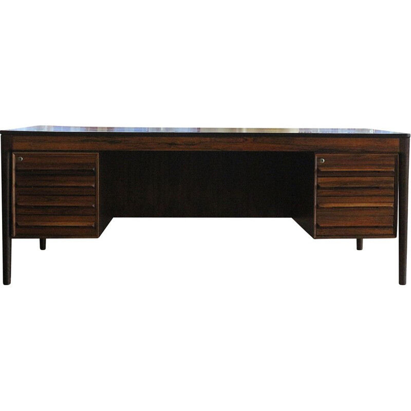 Mid Century Rosewood desk by Tørbjorn Afdal, Norway 1970s