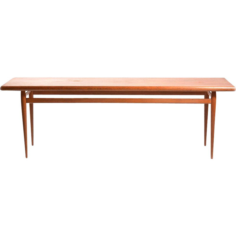 Long vintage Coffee Table In Mahogany And Oak Czechoslovakia 1960s