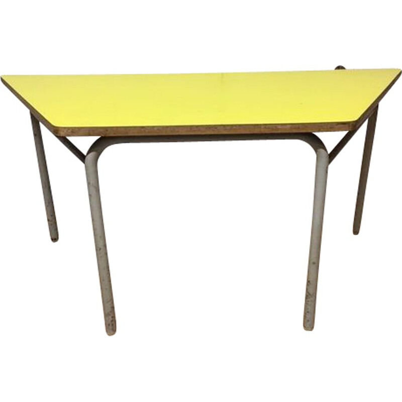 Vintage trapezoidal coffee table formica 1960