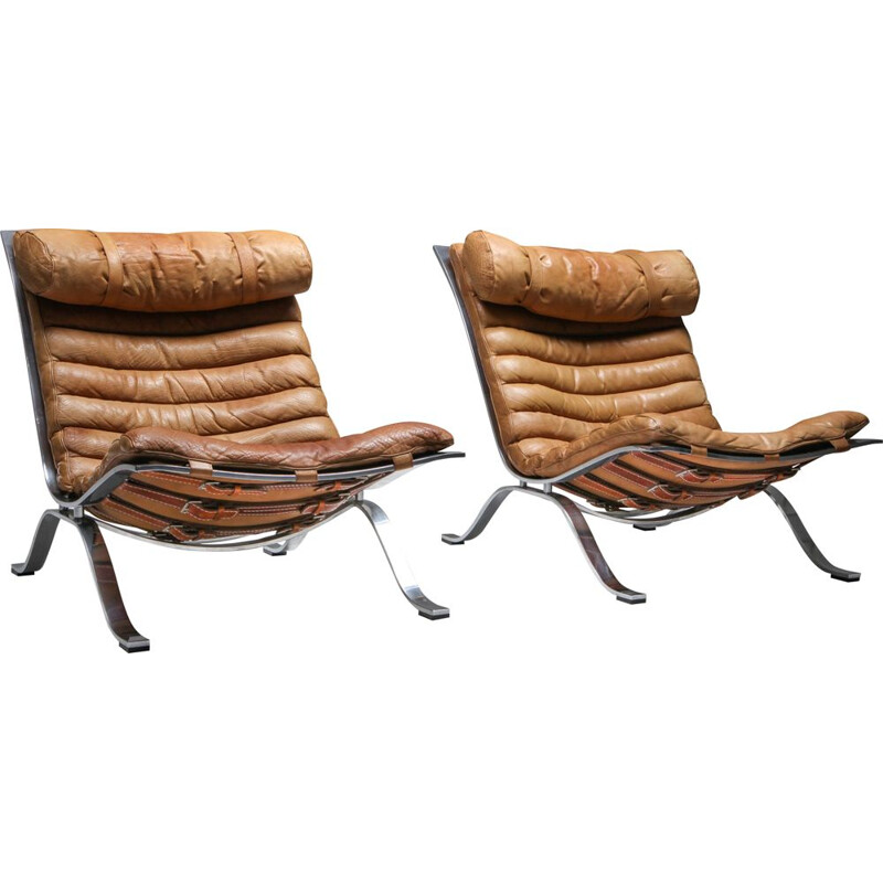Pair of Vintage Lounge Chairs 'Ari' by Arne Norell AB Arne Norell 1960s