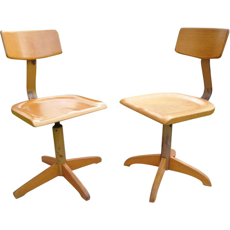 Pair of Ama Elastik Vintage Loft office chairs