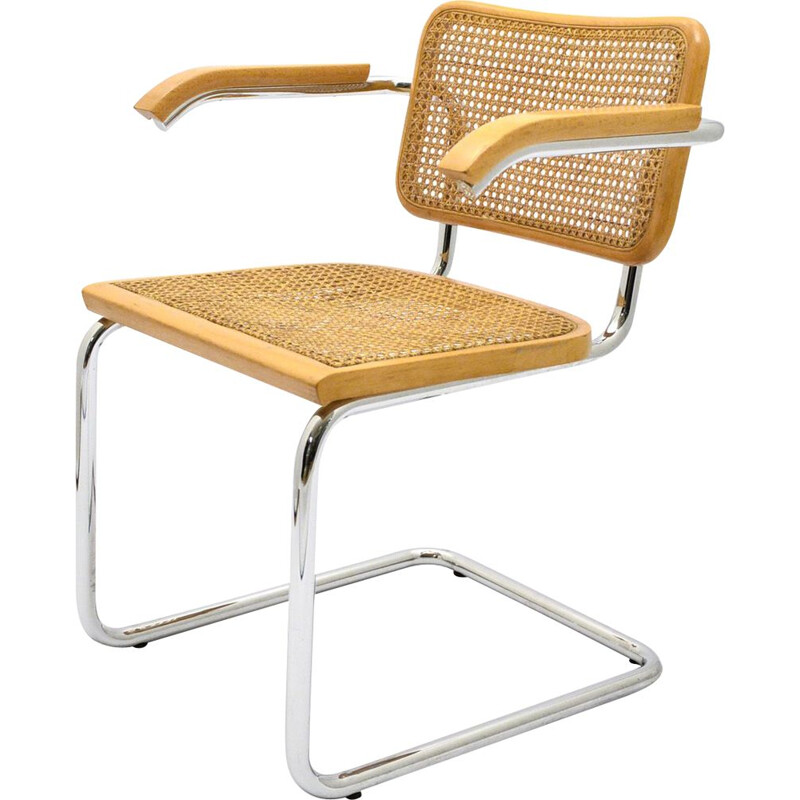 Vintage Cesca B32 Chair By Marcel Breuer For Gavina  Knoll 1970s