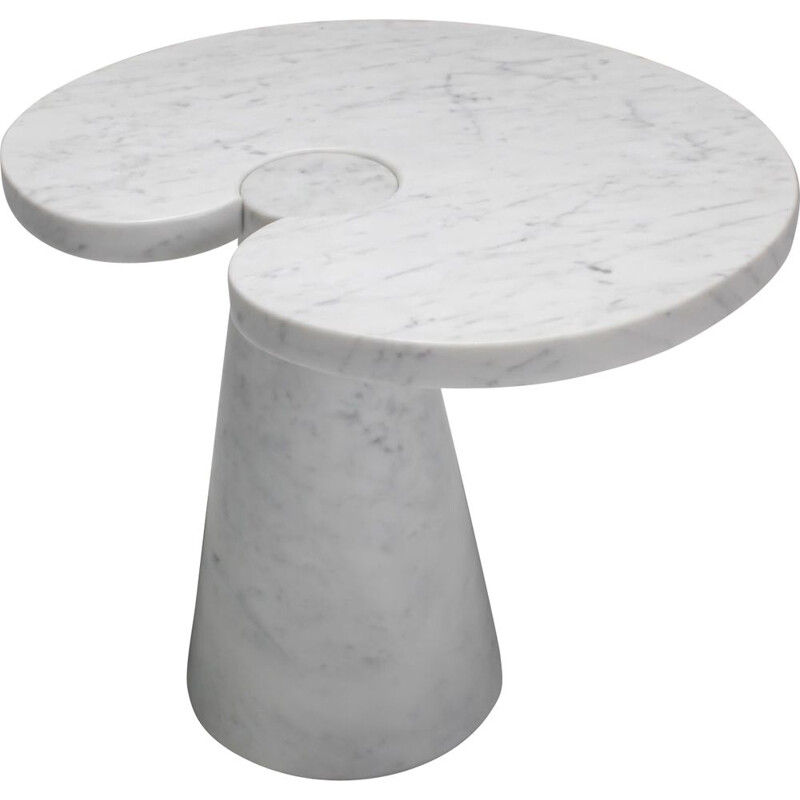 Vintage Mangiarotti Carrara Marble Side Table 'Eros series' for Skipper 1970s