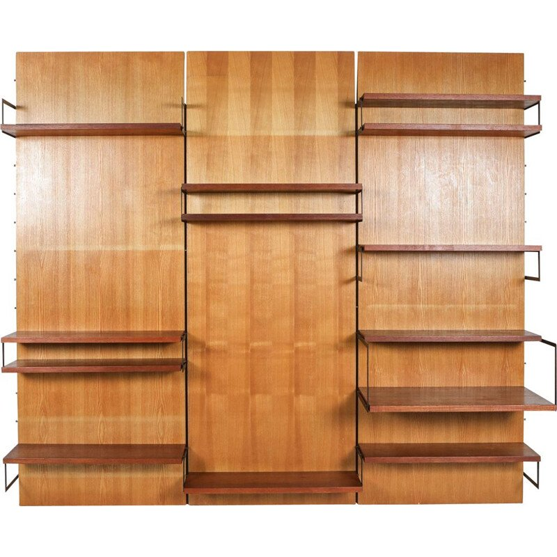 Vintage 'Japanese Series' Wall Unit, Cees Braakman for Postoe Netherlands 1950s