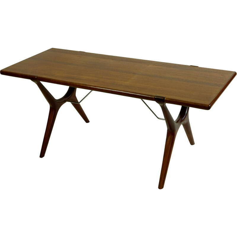Vintage Teak Coffee Table by Karl Erik Ekselius Scandinavian 1960s
