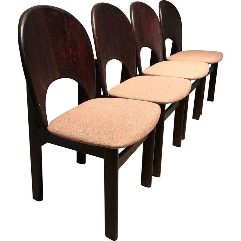 Set of 4 vintage chairs Glostrup Møbelfabrik, Denmark 1970