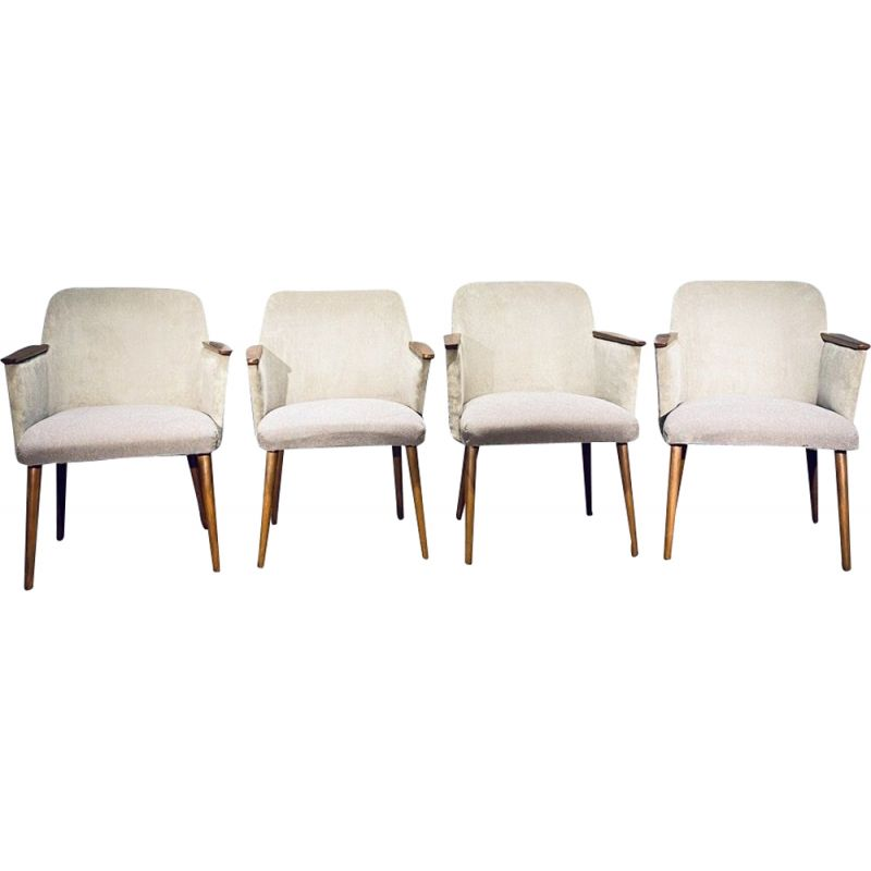 Set of 4 vintage armchairs, Oskar Schäfner, Germany