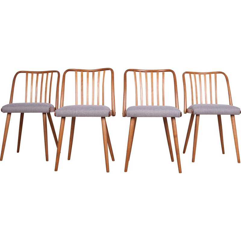 Set of 4 vintage chairs by Antonin Suman for Ton 1960