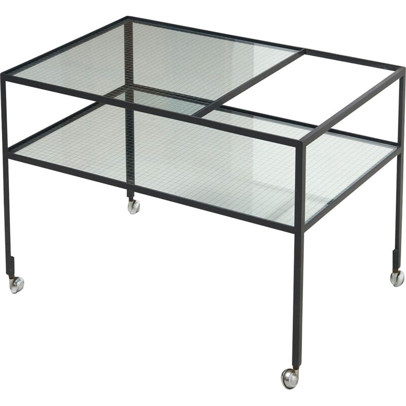 Vintage serving trolley refined by Herbert Hirche for Rosenthal, Germany 1950