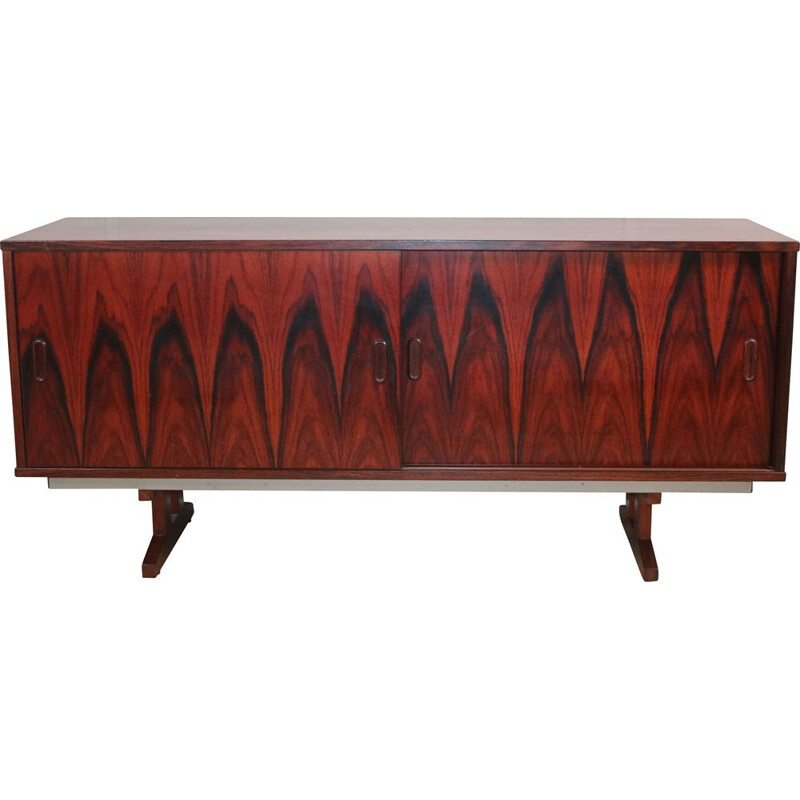 Vintage sideboard with rosewood sliding doors, Denmark 1960