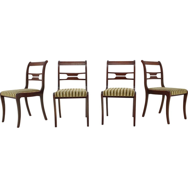Set of 4 vintage chairs, Art Deco 1940