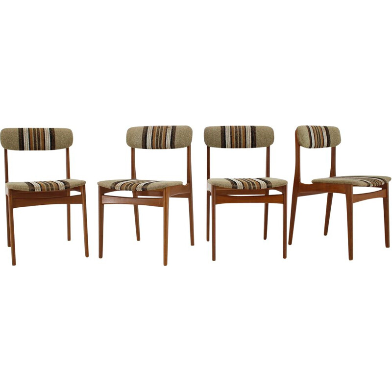 Set of 4 vintage teak chairs, Danish 1960s